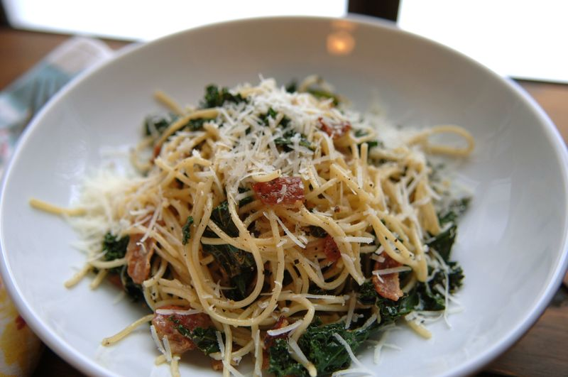 Pasta with kale 2
