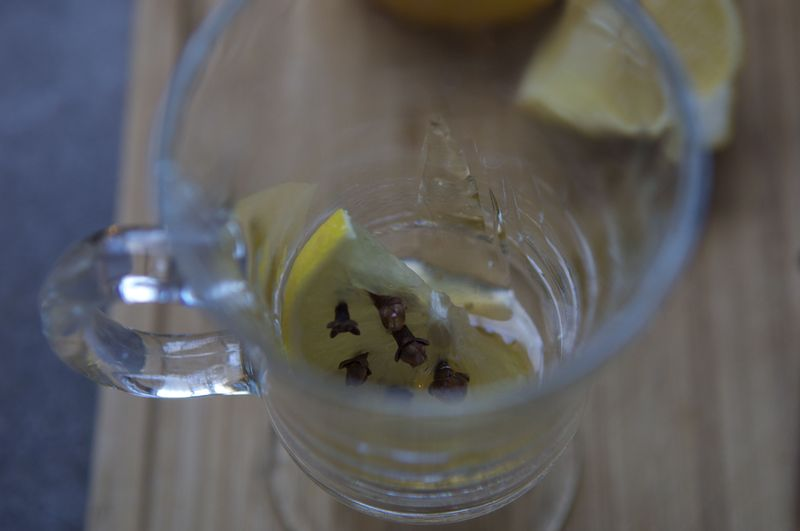 Hot toddy lemon