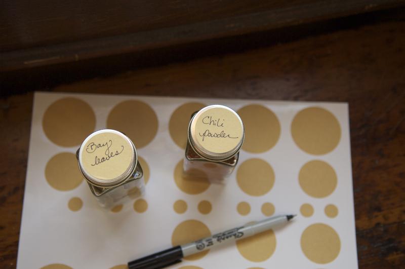 Spice jar stickers